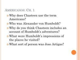 Americanos: Ch. 1