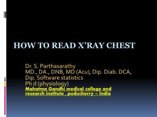 How to  read X�Ray chest