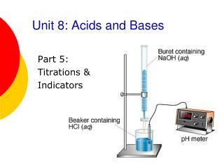 Unit 8: Acids and Bases