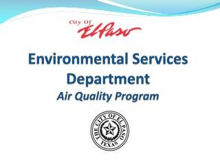 Environmental Services Department Air Quality Program
