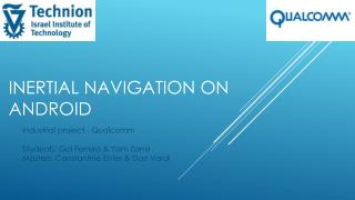 Inertial navigation on android