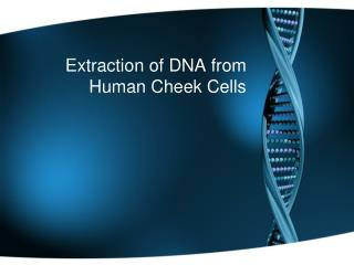 Extraction of DNA from Human Cheek Cells