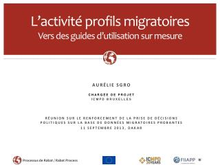 L'activité profils migratoires Vers des guides d'utilisation sur mesure