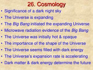 26. Cosmology