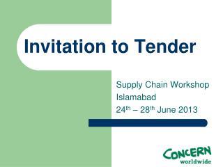 Invitation to Tender