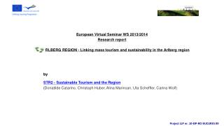 by  STR2 - Sustainable Tourism and the Region