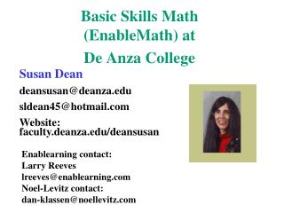 Basic Skills Math EnableMath at De Anza College