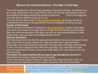 Measure Your Business Revenue – Free Apps Vs Paid Apps