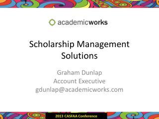 Scholarship Management Solutions