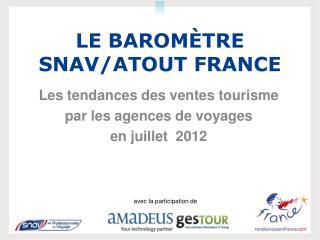 Le Baromètre  SNAV/Atout France