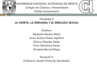 UNIVERSIDAD NACIONAL AUTÓNOMA DE MÉXICO  Colegio de Ciencias y Humanidades  P lantel Azcapotzalco