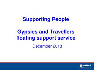 Supporting People Gypsies and Travellers  floating support service