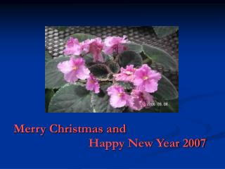 Merry Christmas and Happy New Yea