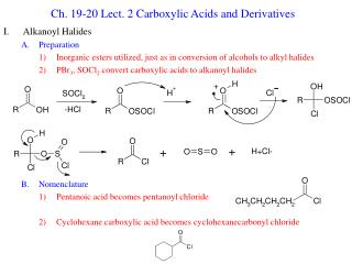Ch. 19-20 Lect. 2 Carboxylic Acids and Derivatives
