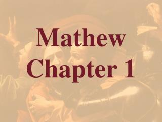 Mathew  Chapter 1