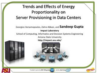 Trends and  Effects  of Energy Proportionality on Server Provisioning in Data Centers