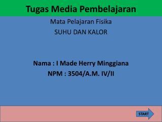 Tugas  Media  Pembelajaran
