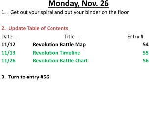 Monday, Nov. 26