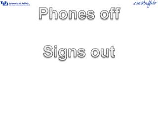 Phones off Signs out