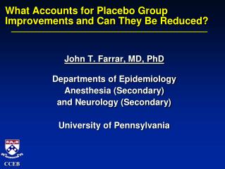 What Accounts for Placebo Group  Improvements and Can They Be Reduced?