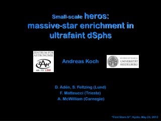 Small-scale  heros: massive-star enrichment in  ultrafaint dSphs
