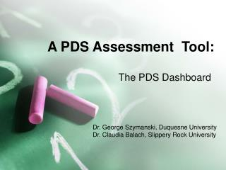 A PDS Assessment  Tool: