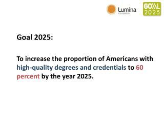 Goal 2025: