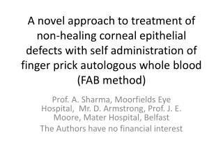 FAB method for chronic corneal epithelial defects