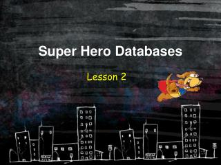Super Hero Databases