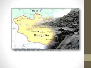 MONGOLIA MINING ISSUES SEPTEMBER 2012