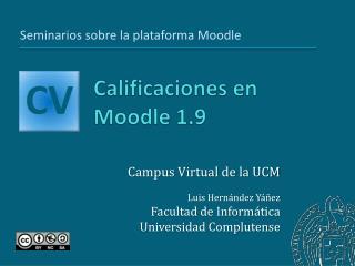 Calificaciones en Moodle 1.9