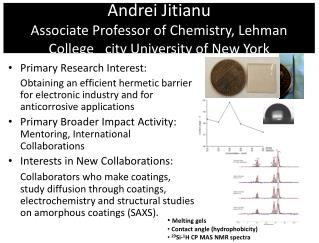 Andrei Jitianu Associate Professor of Chemistry, Lehman College _city University of New York