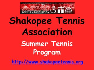 Shakopee Tennis Association