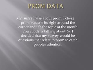 Prom Data