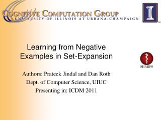 Learning from Negative Examples in Set-Expansion