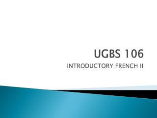 UGBS 106