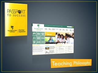 Teaching Philosophy