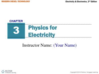Physics for  Electricity