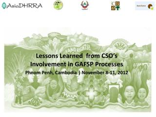 Lessons Learned  from CSO's Involvement in GAFSP Processes