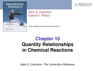 Chapter 10 Quantity Relationships in Chemical Reactions