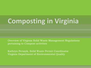 Composting in Virginia