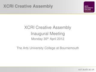 XCRI Creative Assembly