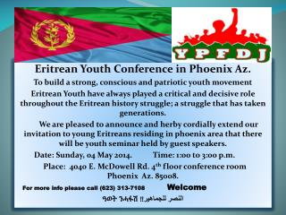 Eritrean Youth Conference in Phoenix Az .