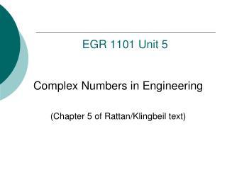EGR  1101 Unit 5