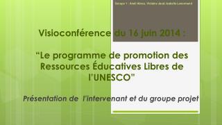 Visioconférence du 16 juin 2014 :