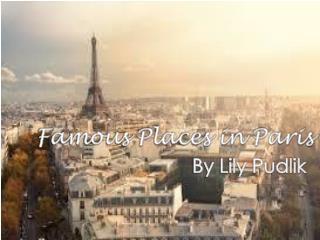 Famous Places in Paris