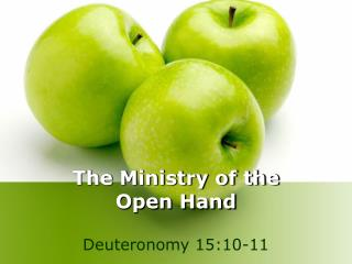 The Ministry of the  Open Hand