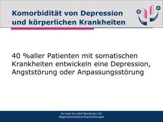 Komorbidität von Depression und körperlichen Krankheiten