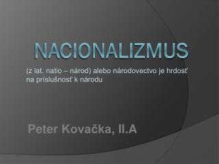 Nacionalizmus