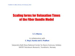 Scaling forms for Relaxation Times of the Fiber Bundle Model